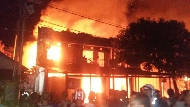 Gedung NSS hangus dilalap si jago merah