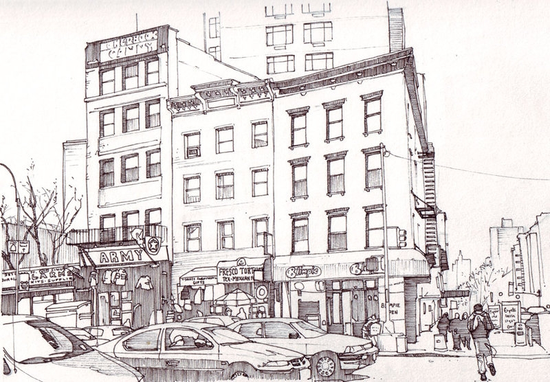 07-Blimpie-New-York-Tom-Hopkinson-Drawings-of-our-Lives-Depicted-in-Urban-Sketches-www-designstack-co