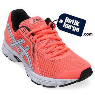 Asics Gel Impression 8 Sepatu Lari Wanita - Flash Coral Putih Hitam
