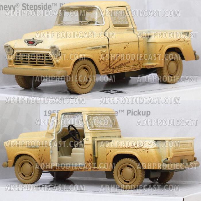 Chevy Stepside Pick-Up 1955 Dirt (White-32K)