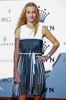 Petra Kvitova in Mini Dress at Crown IMG Tennis Party