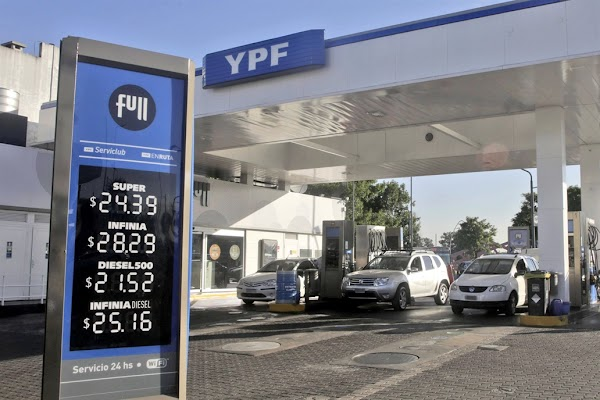 En dos meses, YPF aumentó más de 16% el precio de sus combustibles