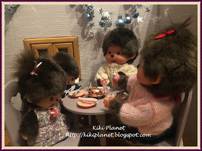 kiki monchhichi bebichhichi noël christmas english anglais tradition new eve