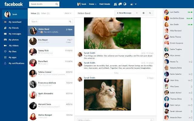 تحميل اضافة Facebook Flat لازالة اعلانات فيس بوك