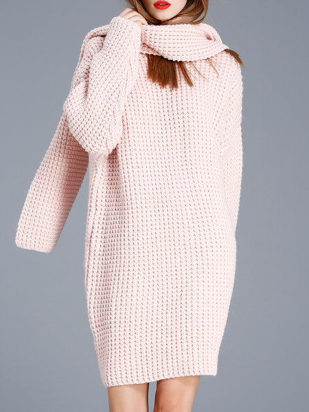 https://www.stylewe.com/product/pink-wool-alpaca-shift-plain-sweater-dress-with-scarf-84784.html