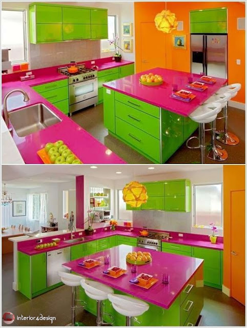Colorful Kitchen Designs 1