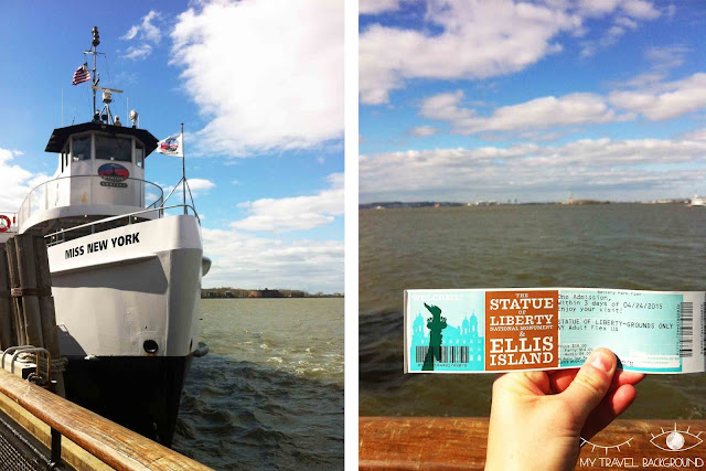 My Travel Background : Prendre le ferry pour aller voir la Statue de la Liberté, New York