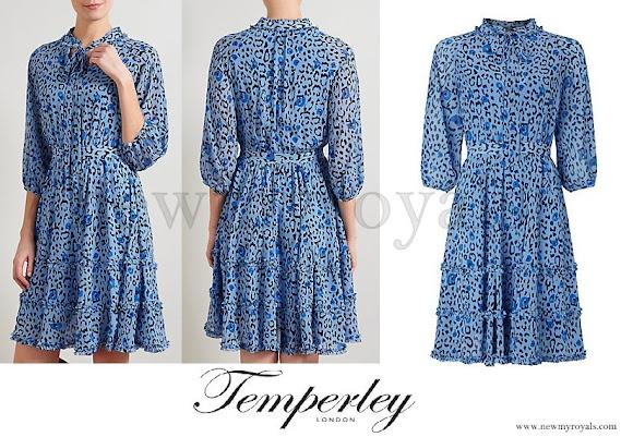 Princess Madeleine wore Alice Temperley Leopard Print Dress