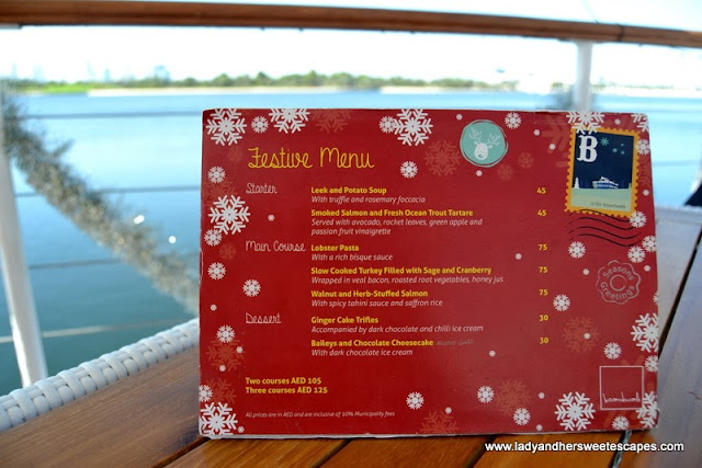 Boardwalk's Festive Menu