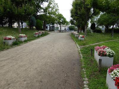 門真市・弁天池公園 花壇