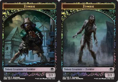premium foil, double-faced Zombie token