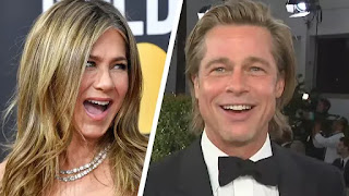Brad Pitt chama Jennifer Aniston de 'boa amiga', pois ambas participam do Globo de Ouro de 2020