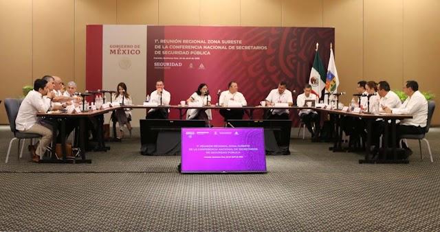 EN QUINTANA ROO SESIONA LA PRIMERA CONFERENCIA REGIONAL DE SECRETARIOS DE SEGURIDAD, ZONA SURESTE