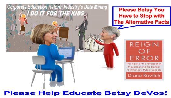 Image result for big education ape devos alternative facts