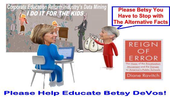 Image result for big education ape alternative facts devos