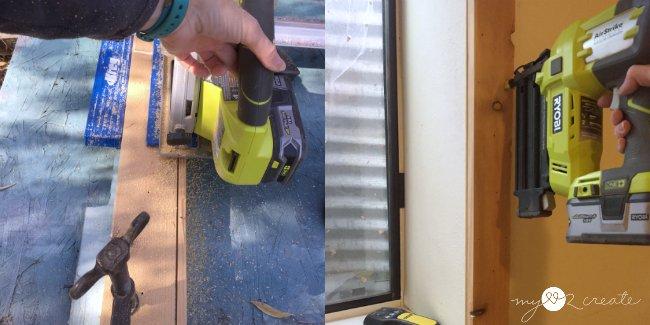 cutting window trim to fit with keg rip cut