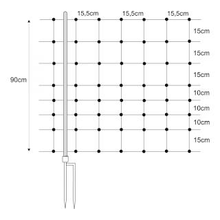Dupla leszúrós oszlopok és hálók