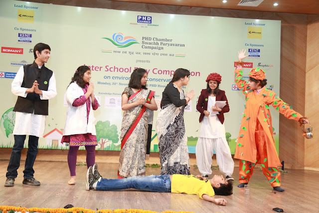 Students at one of their Inter school Play Acts-
