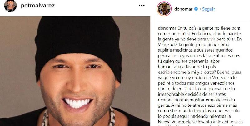 Don Omar le da hasta con el tobo al Potro Álvarez