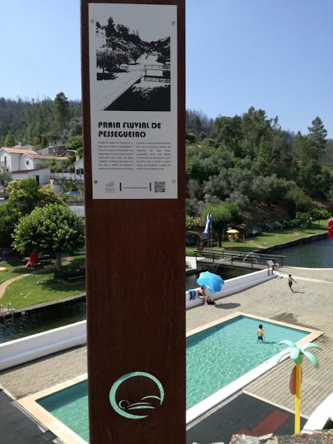 Placa Praia Fluvial de Pessegueiro