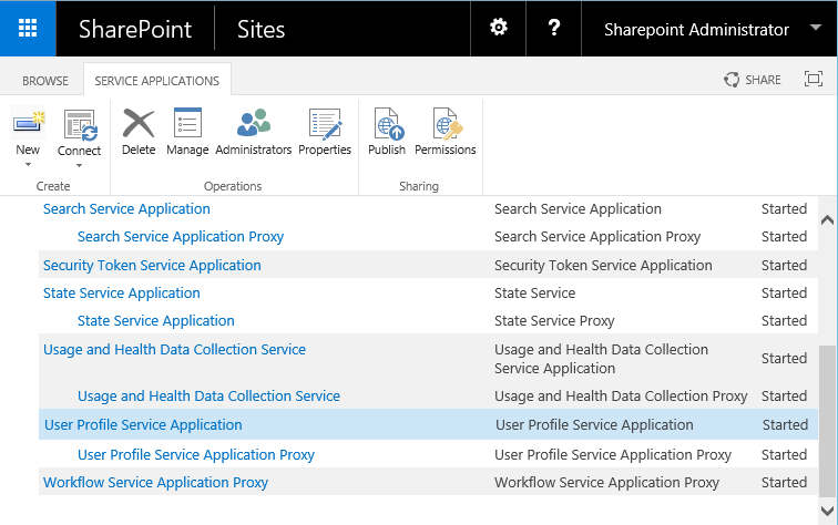 sharepoint 2016 create user profile service application powershell