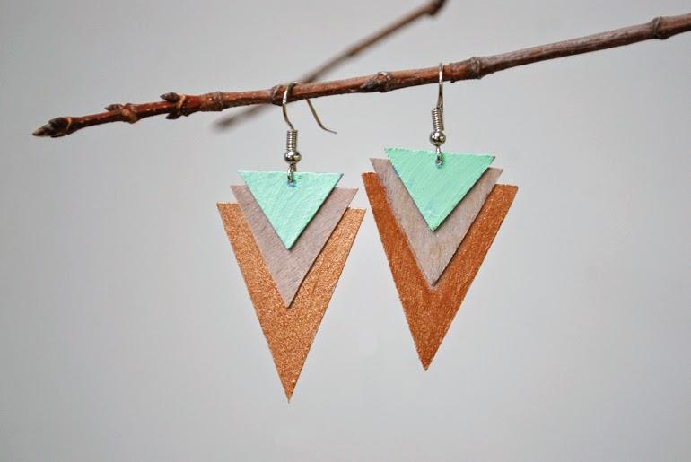Como hacer unos bonitos aretes de madera.