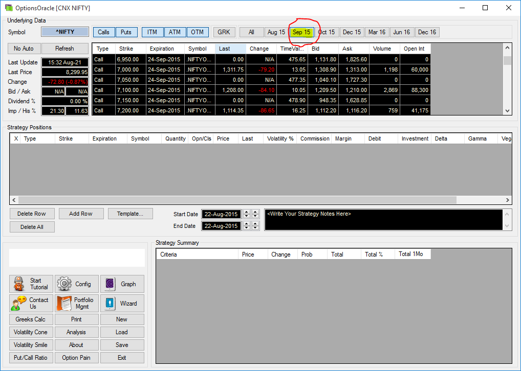 Latest version of Options Oracle
