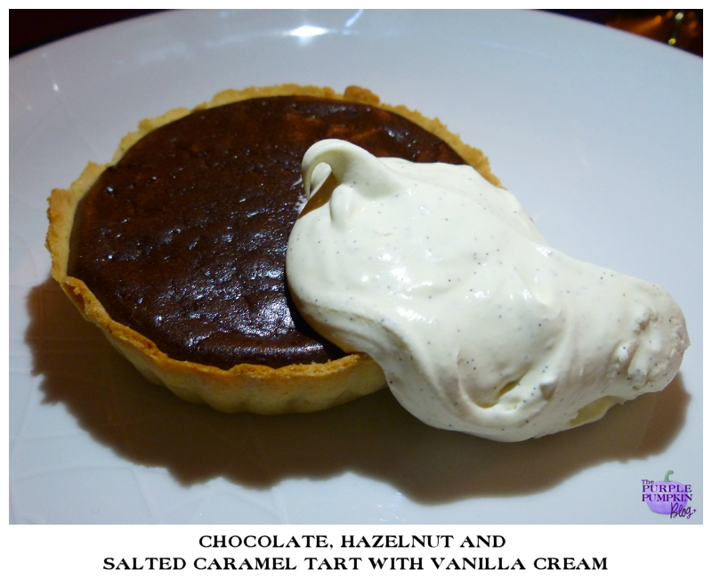 Chocolate, Hazelnut and Salted Caramel Tart with Vanilla Cream