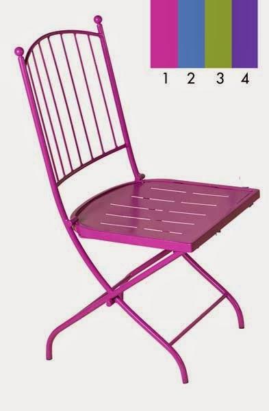 silla decoracion forja, silla forja colores