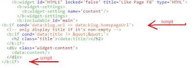 Mengatur Widget Agar Tampil Di Halaman Tertentu Blogger