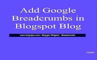google breadcrumbs for blogger