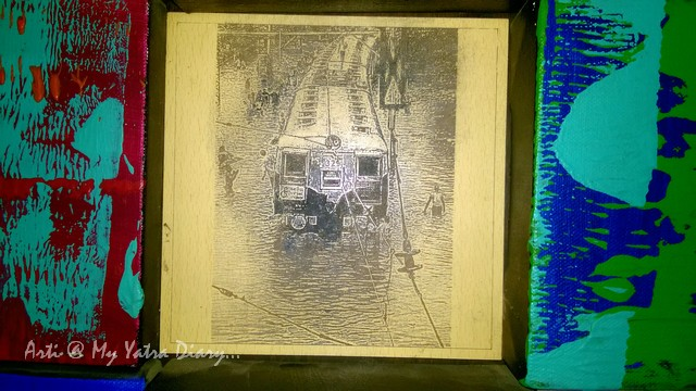 Mumbai floods - Art collage at Mumbai Chhatrapati Shivaji Domestic Airport, Terminal 1A