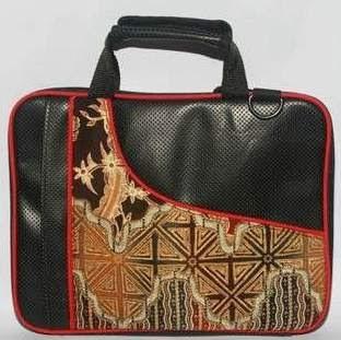 tas laptop batik hitam