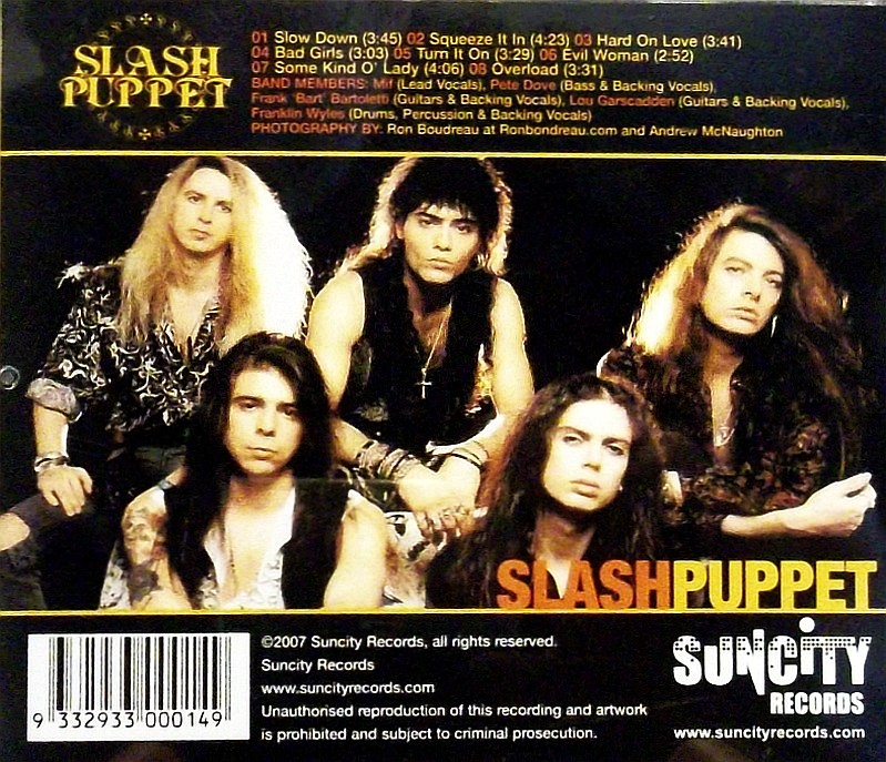 SLASH PUPPET - No Strings Attached '89 - back