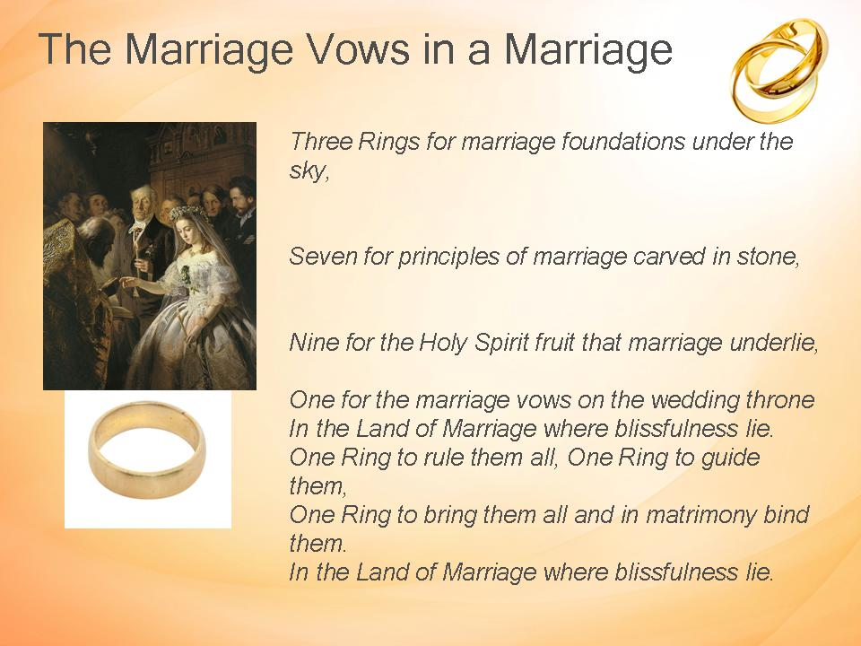 Random Musings From A Doctor S Chair The Marriage Vows