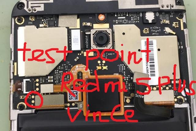 Seperti yang telah kita ketahui bersama Inilah letak Test Point pada Xiaomi Redmi 5 Plus (Vince)