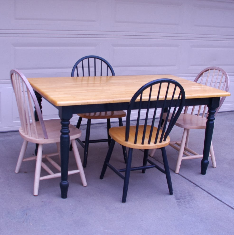 Finders Keepers: SOLD Butcher Block Table w 4 Chairs $75