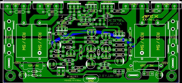 PCB Power AMplifier APex AX14