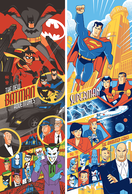 The New Batman Adventures & Superman: The Animated Series Screen Prints by Scott Derby x Bottleneck Gallery