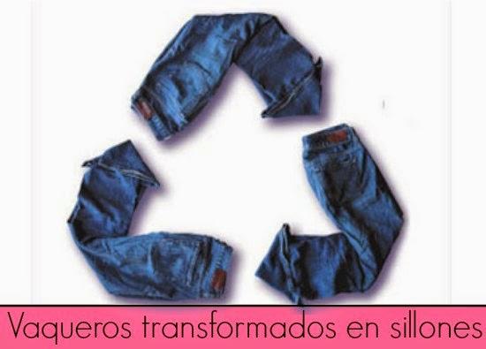 Quieres hacer un Sillon Individual con 4 Pantalones.Reciclaje