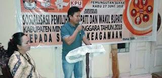 KPU Mitra Terus Lakukan Sosialisasikan Pilkada 2018