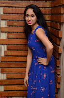 Pallavi Dora Actress in Sleeveless Blue Short dress at Prema Entha Madhuram Priyuraalu Antha Katinam teaser launch 008.jpg