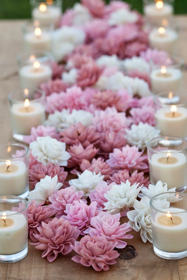 Centros de mesa para bodas con velas y flores auto - Centros de mesa con velas ...