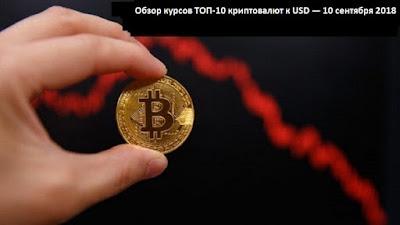 Обзор курсов ТОП-10 криптовалют к USD — 10 сентября 2018
