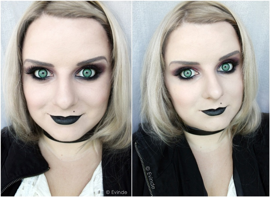tiffany seed of chucky makeup look