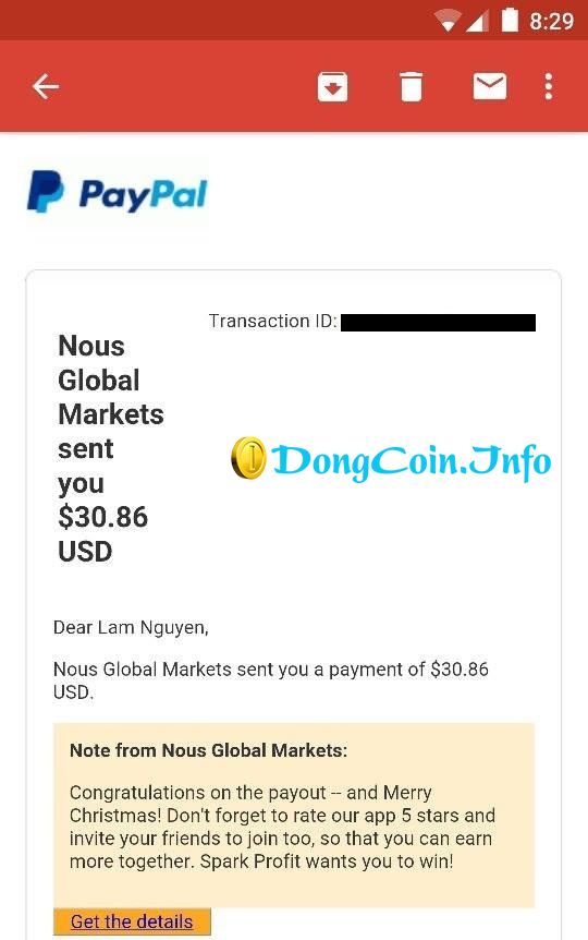 proof thanh toán sparkprofit