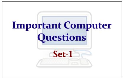 Important Computer Questions