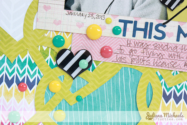 Love This Moment Layout by Juliana Michaels detail #freedigitalcuttingfile