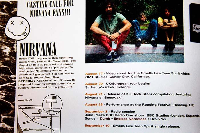 """Invitación a los Fans de nirvana a participar de la grabación del video, """"Smells Like Teen Spirit"""", tomada de """"With The Lights Out"""", lanzado el 23 de noviembre de 2004, propiedad de Julián Franco, exibido en 4Works Studio."""