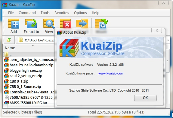 Interface KuaiZip